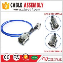 High Quality copper cable Assembly 7/16Din female to 7/16Din female for RG141 cable