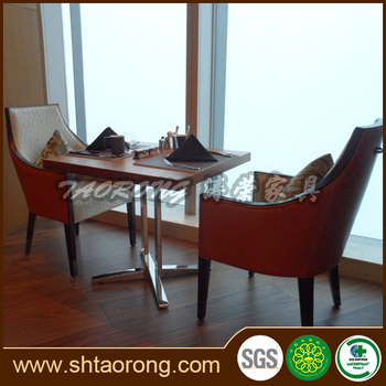 The upscale Italian restaurant wooden furniture dining table and chair RS-050