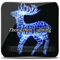 wholesale outdoor twinkling led light up reindeer motif rope light