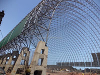 Coal Power Plant Construction Large Span Space Frame Steel Structure Metal Building For Coal Storage Shed