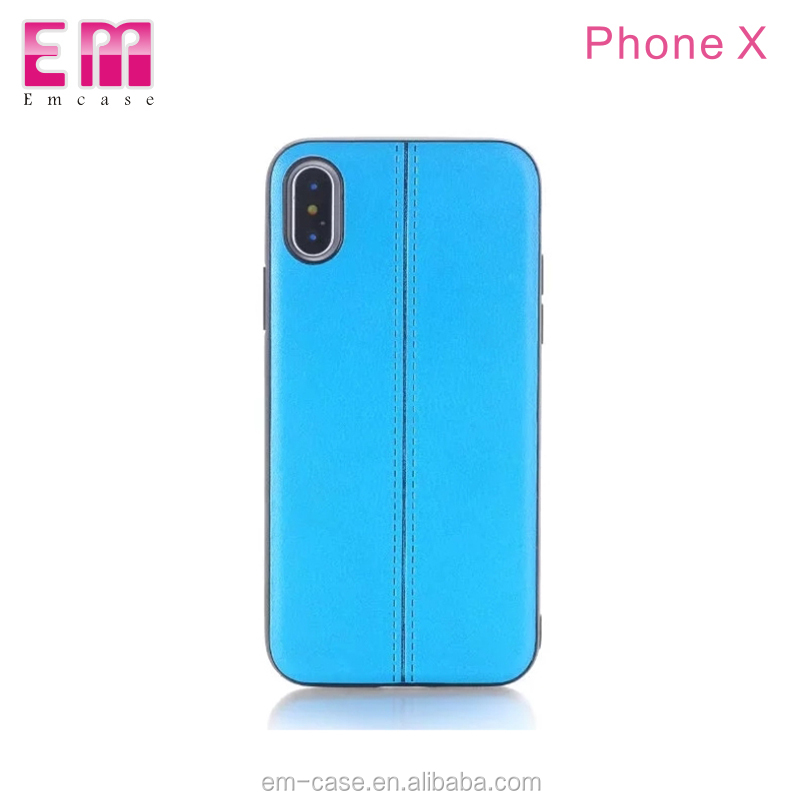 New design lines pattern case for iPhone X anti-scratch pu back cover for iPhone 8 8 plus