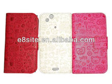 Designed PU Wallet Leather Case For Sony Xperia Arc LT15i X12