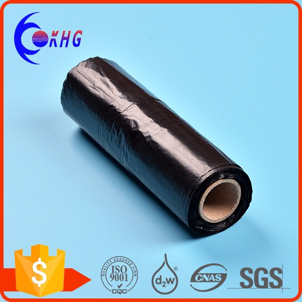 Factory direct sales industry use HDPE/LDPE black plastic garbage bag on roll