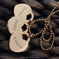 Yiwu Aceon Stainless Steel Cute Heart Custom Engraved alphabet letters Charm Pendant