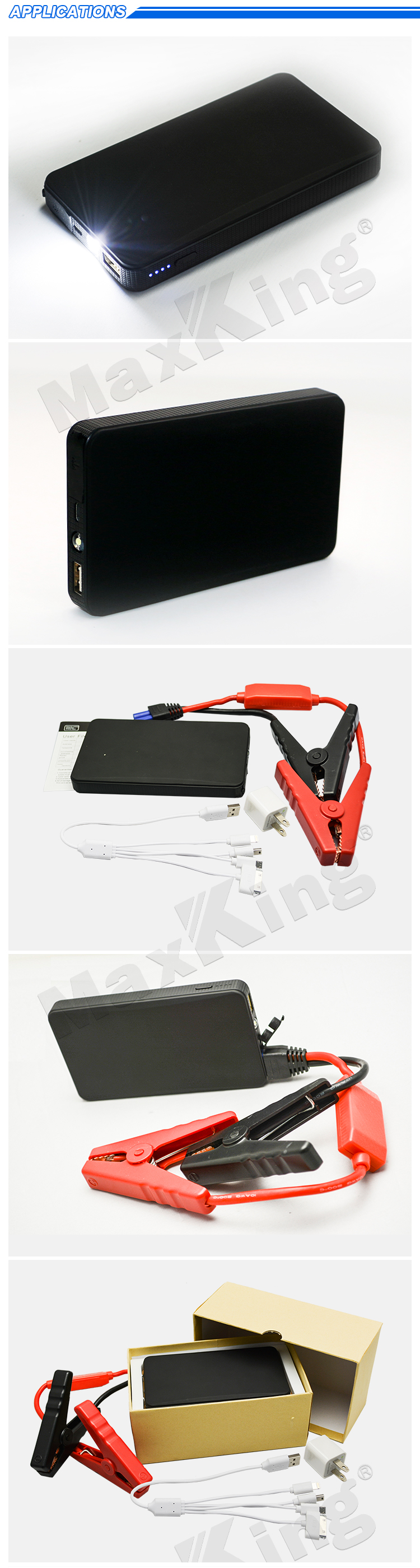 Multi-function jump starter 12V power bank car jump start 8000 mah lithum battery pack