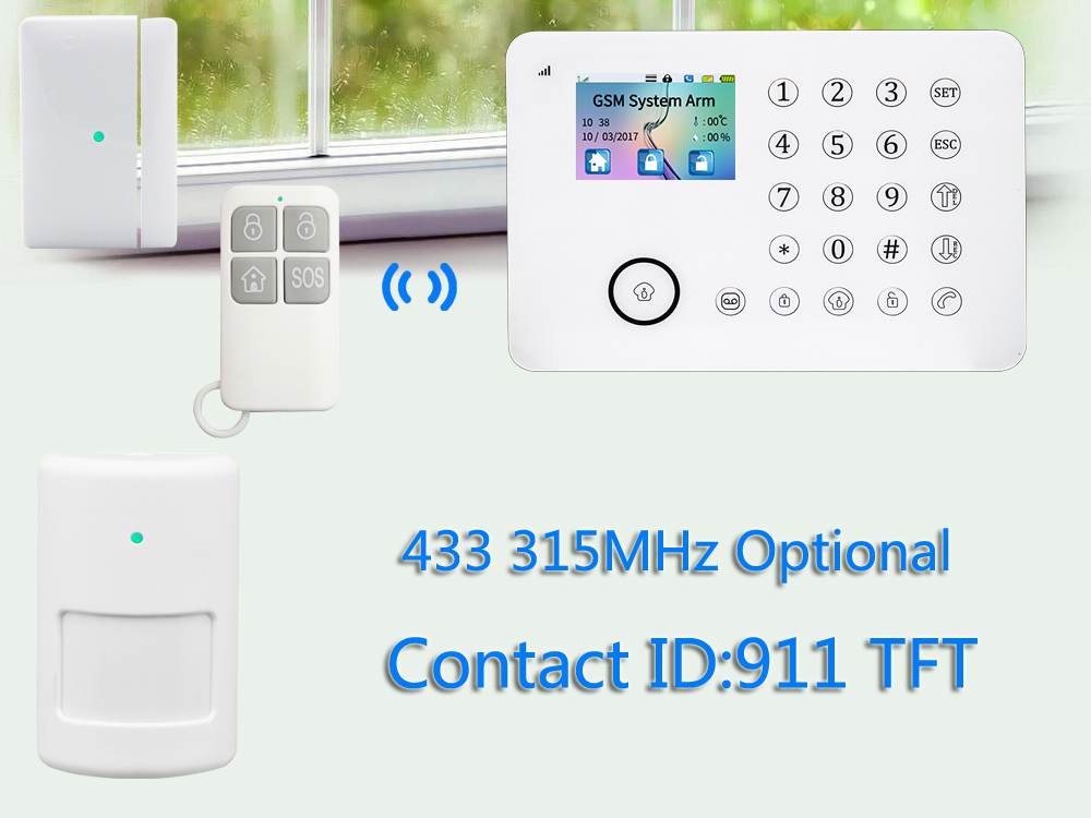 Factory directly offer! latest GSM+PSTN burglar wireless smart home alarm system