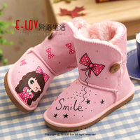 NO.UK004F 2016 OEM ODM Girls Manufacturer Customized kids women winter boots