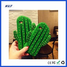 KLT OEM Lovely Cactus Cacti Cereus 3D Phone Case for Samsung Galaxy S7 S7Edge S6 s6Edge Note3 4 5 Silicone Case For HTC