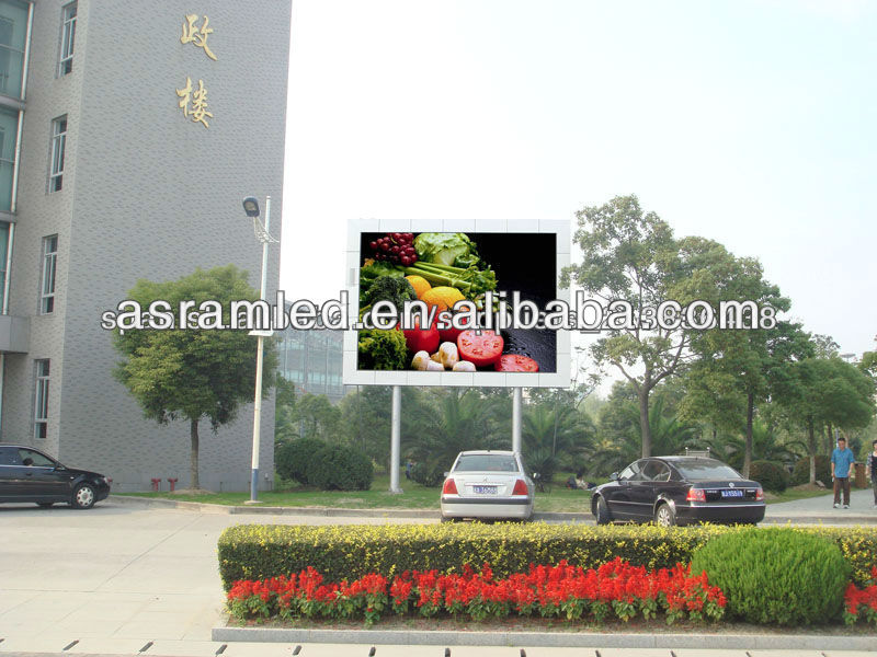 high brightness advertising digital wireless electronic true color ph10 price full color led display outdoor used