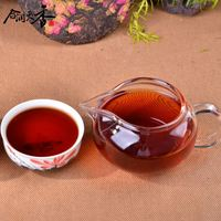 most popular exotic tea rose flavored puer shu compressed tea