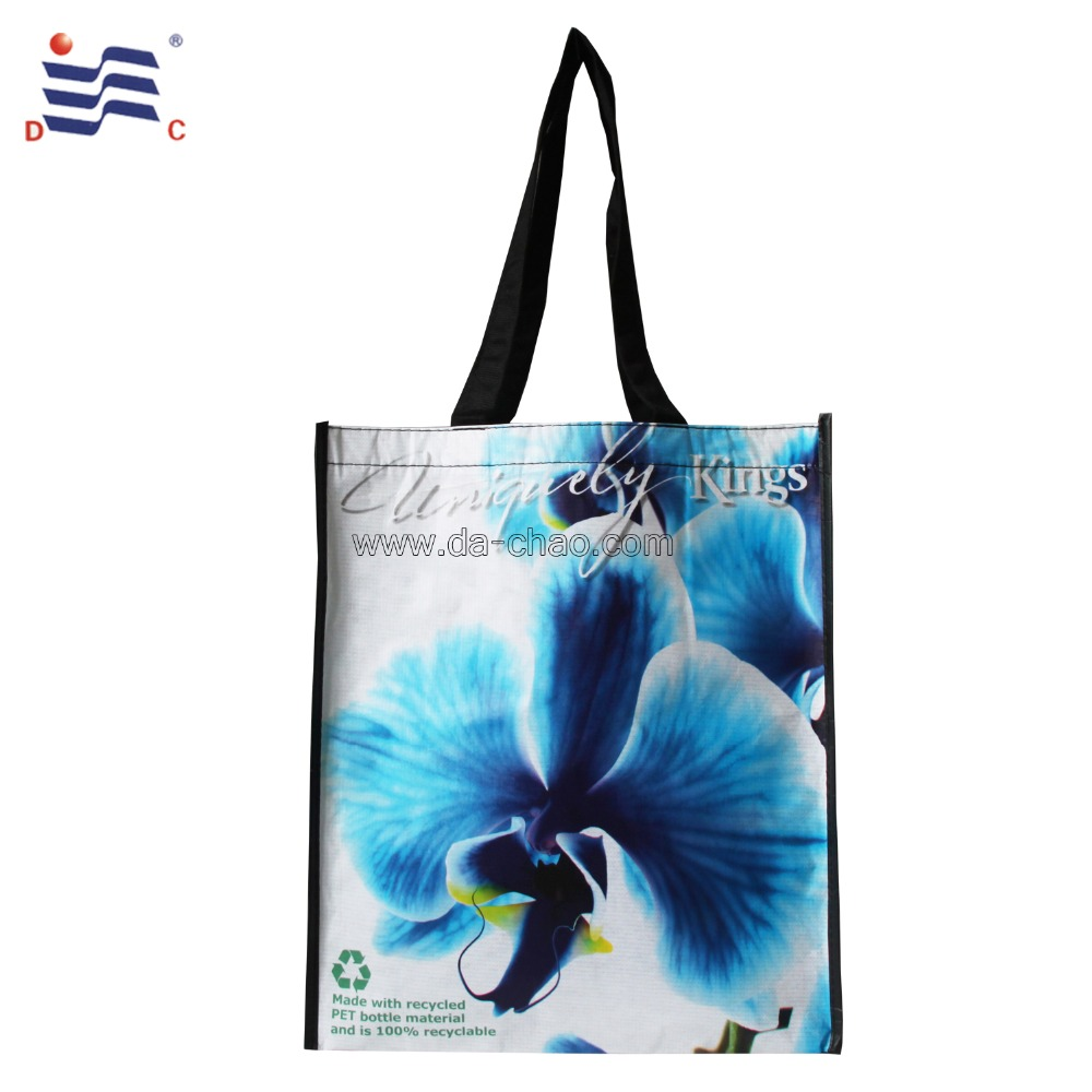 2016 promotional new bag RPET shopping bag