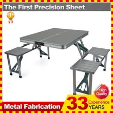 Trail Aluminium Portable Folding Camping Outdoor BBQ Picnic Table Chairs Set
