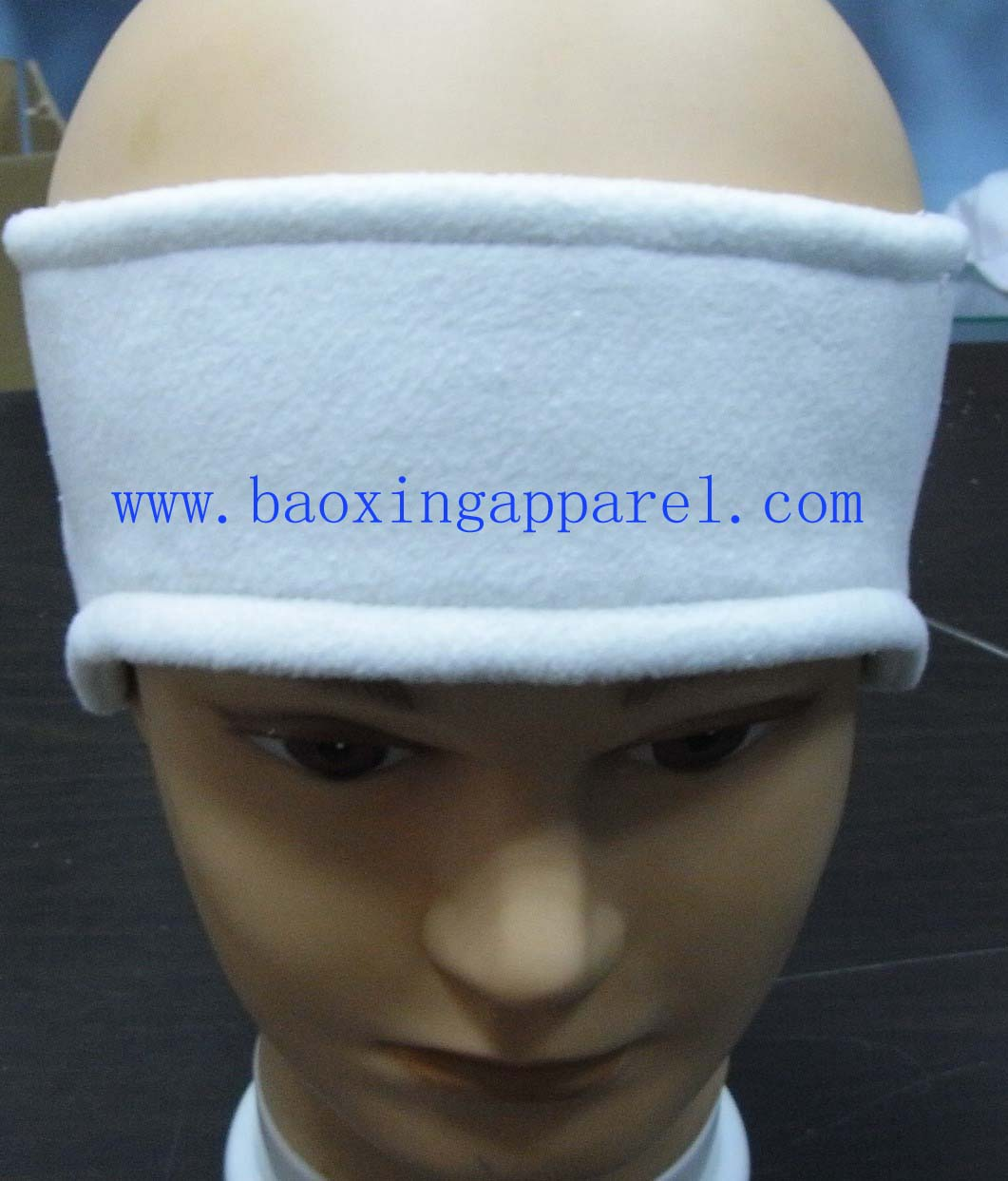 knit winter headband with ear muff