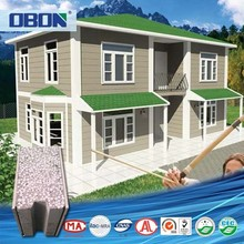 OBON low cost turnkey two bedrooms residential prefab duplex house