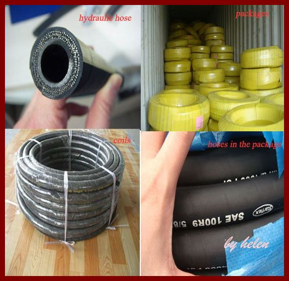 Rubber Hose pipe Industrial Hydraulic rubber Hose