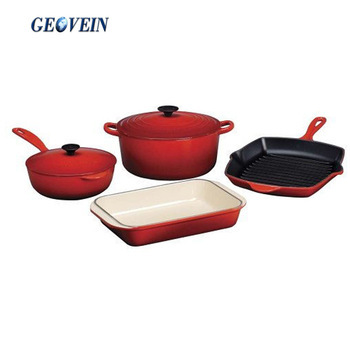 Safe and healthy non-stick cast iron palm restaurant cookware set