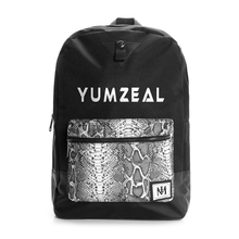 Wholesale custom durable vintage travel polyester print and leather backpack