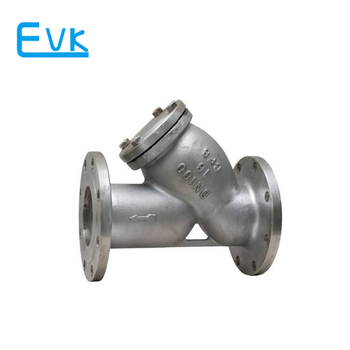 Flanged stainless steel strainer of y