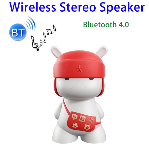Alibaba Express Cute Rabbit Music Stereo Mini Bluetooth 4.0 Speaker with LED Light