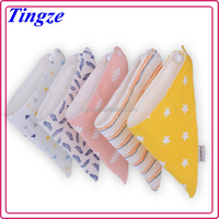 Knitted baby bibs cotton Baby bibs triangle Cotton baby bids