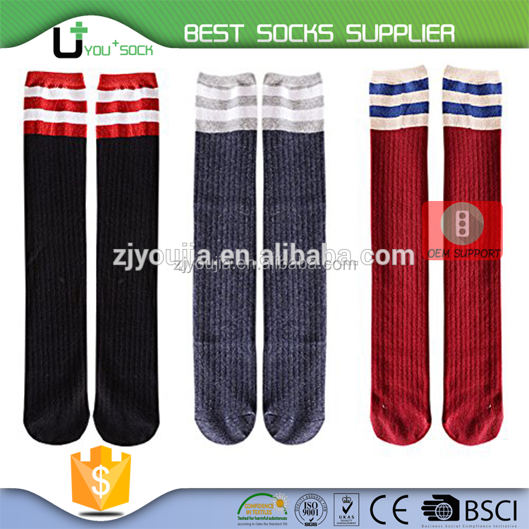 U+ A -3752 stripes boy tube socks