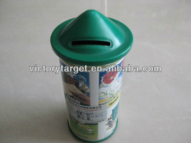 disposable saving coin tin box