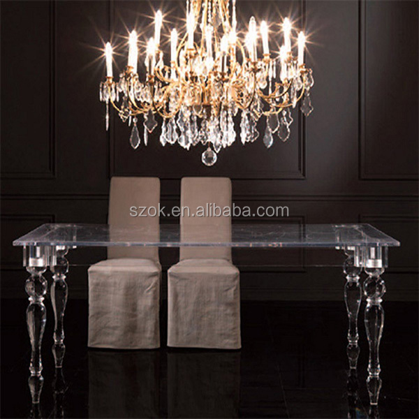 Luxury modern clear acrylic wedding table wholesale