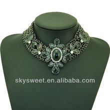 Fashion beads flower fake collar for woman