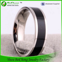Beichong brand fashion jewelry hot sale stainless steel classical men's silver rings