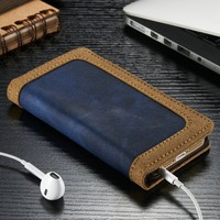 Luxury PU Leather Case for iPhone 5s, for IPhone 5 Wallet Case, CaseMe Book Case for IPhone 5s