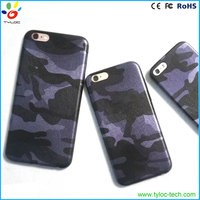 Camouflage pattern design PU leather case army camouflage phone case for iphone 6s