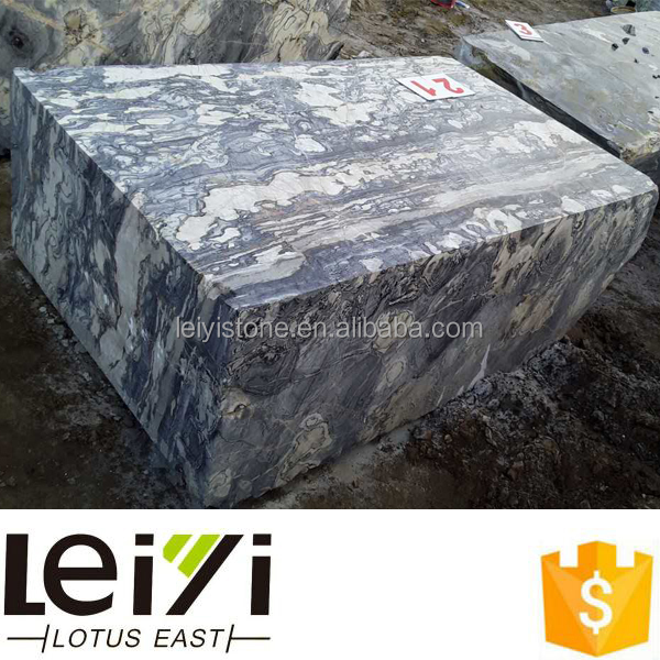 New collection raw blocks lucky cloud marble quarry stone