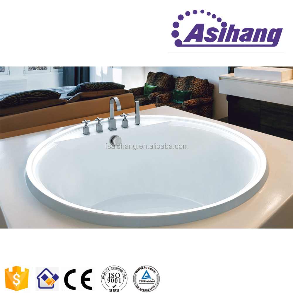 high quality small round built-in acrylic hydro spa hot tub