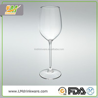Unbreakable Tall goblet 400ML red glass white wine