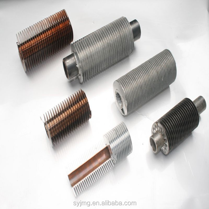 Heat pipe solar water heater copper fin tube,tube fin machin