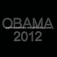 Obama 2012 Iron on Rhinestone Transfer Motif Designs