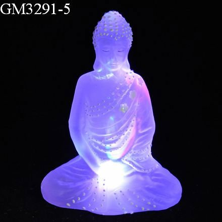 Led buddha statue with light color changing/led decoration