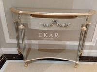 Art deco console table mirrored console table antique apricot console table