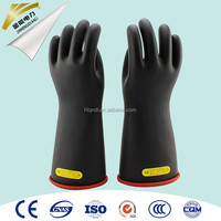 10kV rubber linemen safety electrical insulation gloves