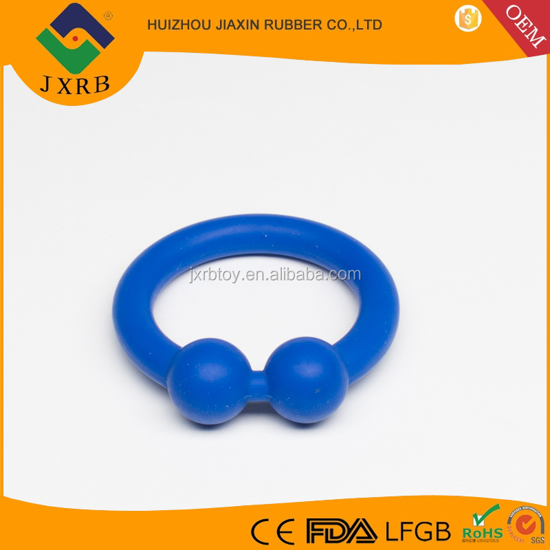 Deluxe cock and ball sex toys Silicone Ball Stretcher, enlarge silicone cock ring blue, 48mm, OEM accept