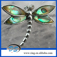 New Arrival Fashion MOP Abalone Shell Jewelry Dragonfly Charm Pendants Wholesale