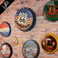wholesale different size Vintage Beer Bottle Cap Wall Decoration Mural home Wall art decor Hanging for Home, Bar, Cafe
