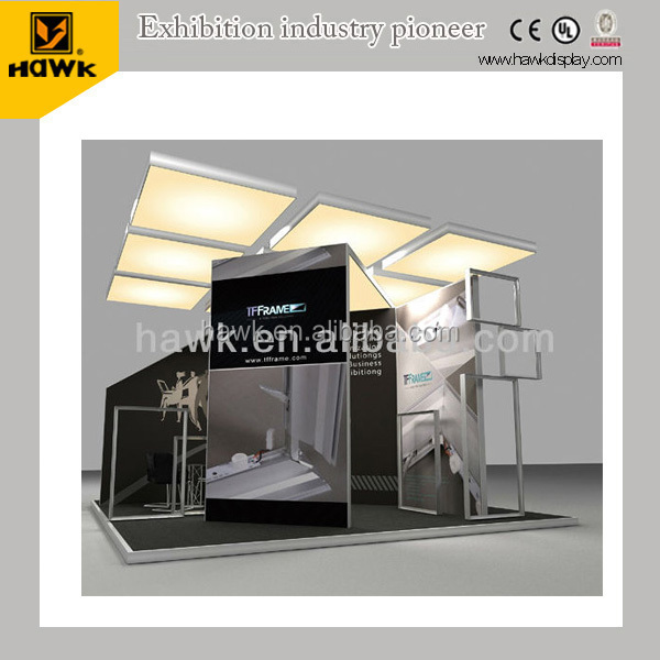 20x20ft Aluminum modular exhibition display booth for trade fair show