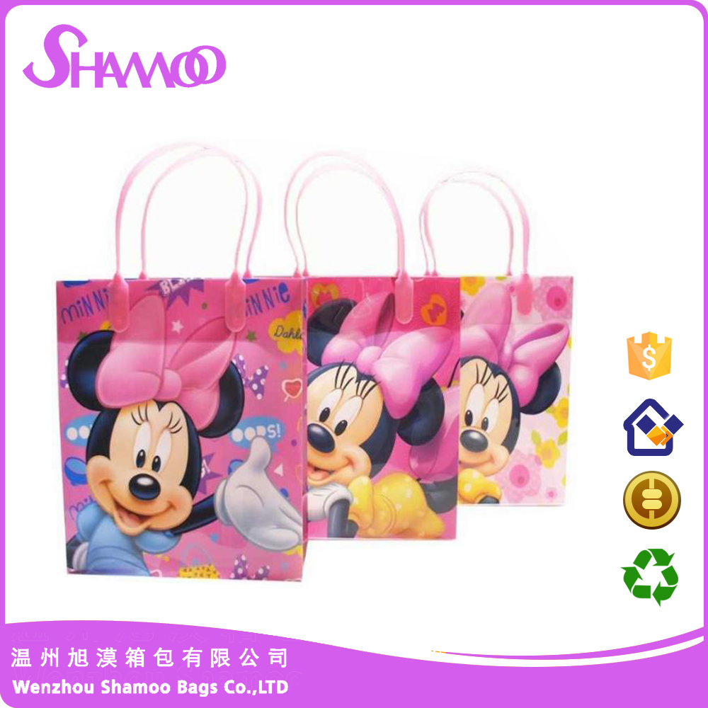 Cute PP woven shopping bag for young girl