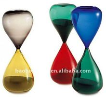 Decoration Big 30 minute colored glass pieces for crafts sand timer