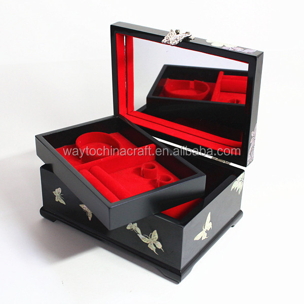 Luxury wooden mother of pearl inlay box