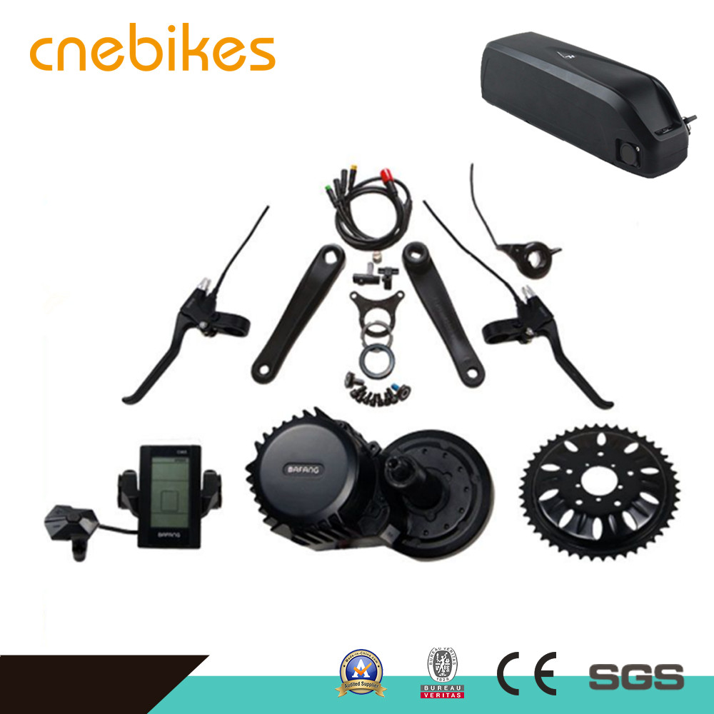Mid drive engine bafang bbs03 48v 1000w electric bicycle kit with rechargeable lithium battery