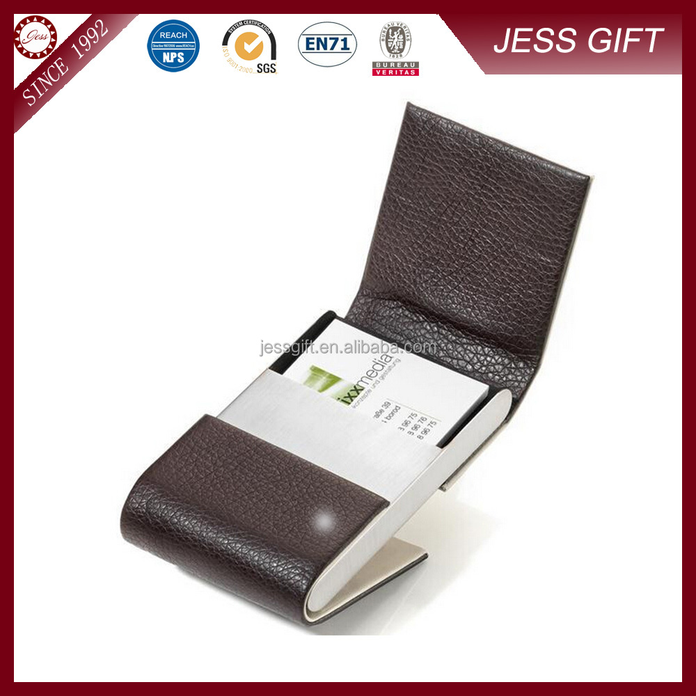 Promotion leather business card holder for gift