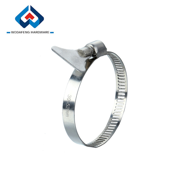 Worm Drive Quick Release clamp hose with Thumb Screw