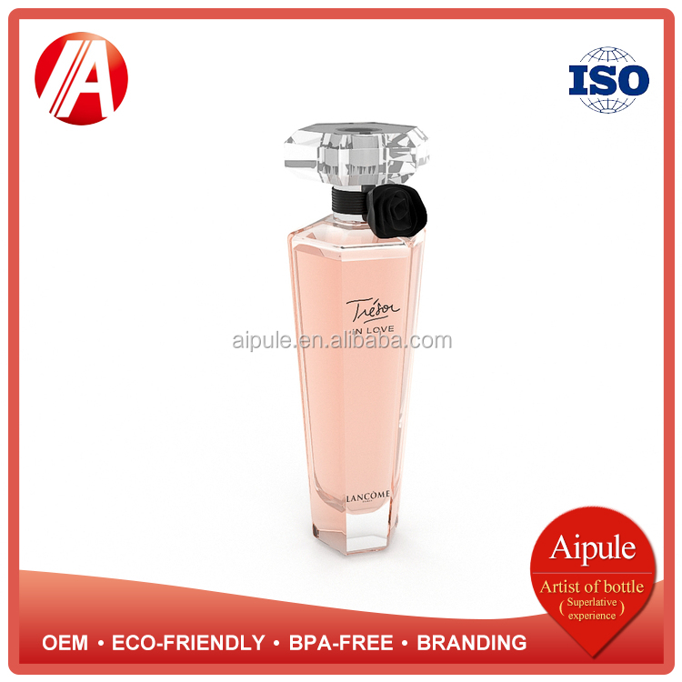 Eco-friendly BPA-FREE OEM new designed perfume glass bottle 100ml with sparyer lid wholesale